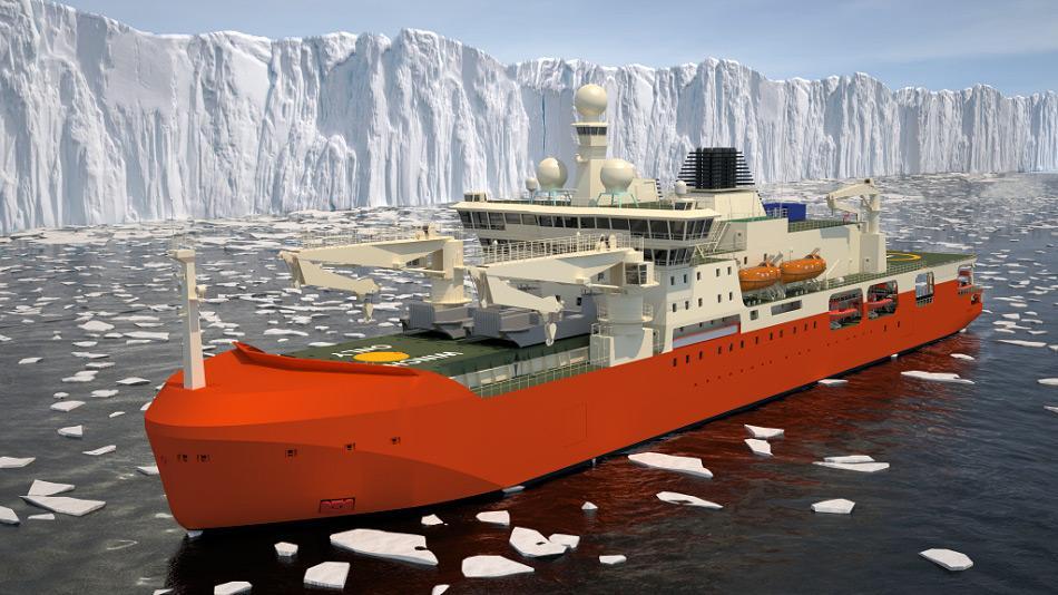 Junge Australier erhalten die Gelegenheit, de, neuesten und modernsten Versorgungs- und Forschungsschiff einen Namen zu geben. Bild: Australian Antarctic Division