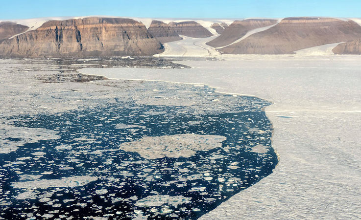 Der Petermann-Gletscher im Nordwesten Grönlands hat in der Vergangenheit immer wieder grosse